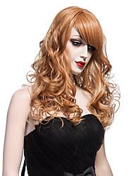 моды природные золотые волны высокого качества коричневого цвета синтетических волос