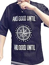 DMI™ Men's Round Neck Print Letter Casual Denim T-Shirt(More Colors)