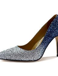 Women's Shoes Glitter Stiletto Heel Heels Heels Party & Evening / Dress Silver
