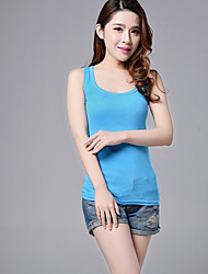 Women's Sexy Solid Tanks,Strap Sleeveless Racerback Vest Multicolors Camisole Tops