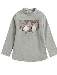 Girl's Gray Tee Cotton Spring