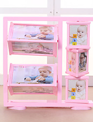 Rotating Ferris Wheel Photo Frame Swing Sets Double-Sided For Children Wedding Photo Frame 5-Inch And 3-Inch Windmill
