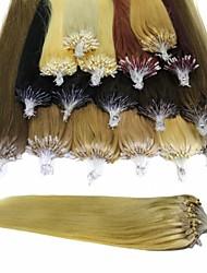 100g boucle micro annulaire extensions de cheveux humains brazilian # rectiligne 1b noir # 8 # 10 # 27 # brun 60 # 613 blond # 99J