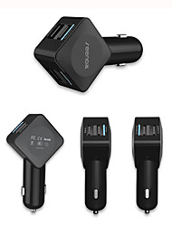 54W 4-Port USB Car Charger with Quick Charge 2.0 and Micro USB Cable for Samsung,Nexus,iPhone and More 1 Pcs