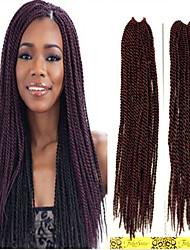 1-12packs Braid Loop Pre-twist braiding senegalese twist braid 1B/350 Color 20inch x 12strands Top Quality Braiding Hair