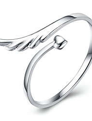 Sterling Silver Ring Wing Silver Plated Ring Adjustable Fashion Jewelry for Women Wedding Party Engagement Ring