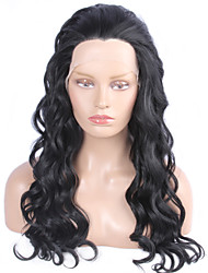 Fashion Synthetic Wigs Lace Front Wigs 24inch Body Wave Black Heat Resistant Hair Wigs Women