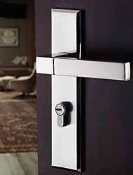 Dorlink® Contemporary Zinc Alloy Silver Keyed Entry Door Lock