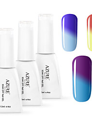Azure 3 Pcs/Lot Soak Off UV Nail Gel Polish Manicure Color Changing Nail Gel(12ml,#17+#18+#20)
