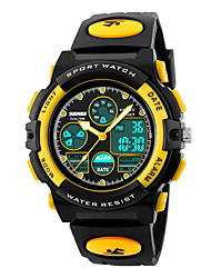 SKMEI Kids' Sport Watch Quartz Japanese Quartz LCD Calendar Chronograph Water Resistant / Water Proof Dual Time Zones Alarm Rubber Band
