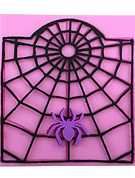 Spider's Web Cartoon Style Candy Fondant Cake Molds  For The Kitchen Baking Molds