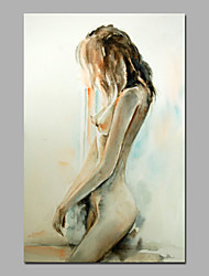 Standy Girl Wall Art Acrylic Painting On Canvas WIth Stretcher Size 16*24 Inches Chinese Oil Painting Supplier