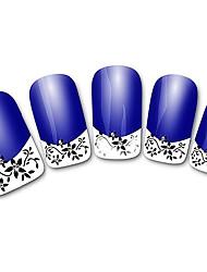 абстрактные фиолетовый xf821 французский 3d наклейки для ногтей