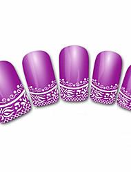 xf821 violet 3d abstrait français ongles autocollants