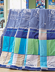 Great Mocha High-end 100% Cotton Air Conditioning Quilt summer Cool Quilt Full/Queen Size