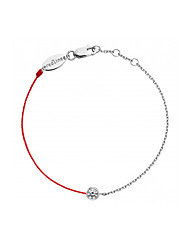 Fashion Women Trendy Pure Round Stone Redline Bracelet