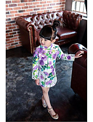 Cosplay Costumes Princess Fairytale Festival/Holiday Halloween Costumes Purple White Print DressHalloween Christmas Carnival Children's