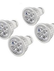 4W GU10 LED Spot Lampen MR16 4 High Power LED 350 lm Warmes Weiß Dekorativ AC 220-240 V 4 Stück