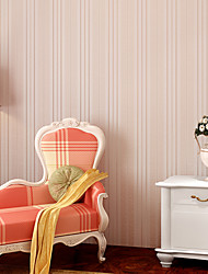 Contemporary Wallpaper Art Deco 3D Fashion Stripe Wallpaper Wall Covering Non-woven Fabric Wall Art