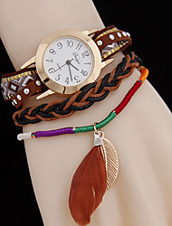 Women's Leaves Woven Pendant Twist Quartz WatchWomen's Fashion Plate Steel Watch Cool Watches Unique Watches