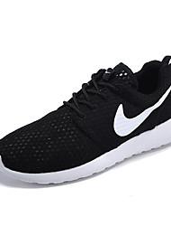 Sapatos Corrida Feminino Preto / Branco Tule / Tecido