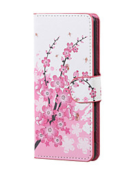 Plum Blossom Magnetic PU Leather wallet Flip Stand Case cover for Asus Zenfone Max ZC550KL