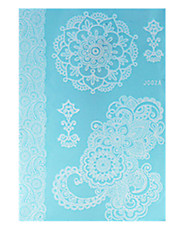 10PCS Fashion Waterproof Body Art Women White Henna Jewel Sexy Lace Flower Temporary Tattoo Stickers