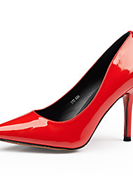 Women's Wedding High Heels Leather Pointed Toe  Party Shoes Black / Red / White