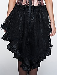 YUIYE® Women Spring Summer Sexy Elegant Black Lace Sexy Lingerie Corset Dress Plus Size