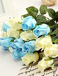 шелковые жизнь, как розы искусственные цветы многоцветной дополнительно 1 шт / комплект
