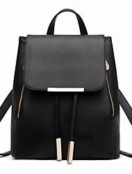 Women PU / Polyester Casual Backpack Beige / Pink / Blue / Green / Red / Black / Ivory / Dark Purple