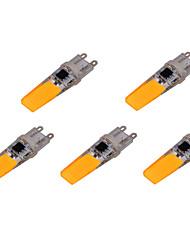 ywxlight® 5 unidades G9 6w 2 cob 500-700 lm / fresco caliente deco blanco blanco llevó las luces de bi-pin ac 220-240 v