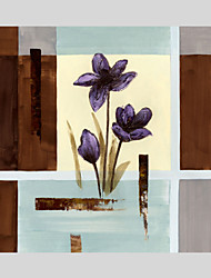 Flower Style Canvas Material Oil Paintings with Stretched Frame Ready To Hang Size 70*70CM