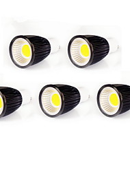 9W GU10 Spot LED MR16 COB 700-750 lm Blanc Chaud Blanc Froid Gradable AC 100-240 AC 110-130 V 5 pièces