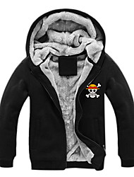 Inspired by One Piece Monkey D. Luffy Anime Cosplay Costumes Cosplay Hoodies Print Long Sleeve Top For