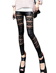 Femme Couture en Dentelle Legging,Polyester Moyen