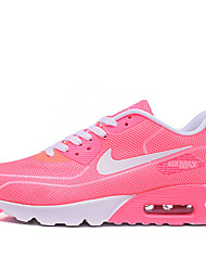 Nike Air Max 90 Running Shoes Women's Wearproof / Air Mattresses/Air Shoes / Lighted Red / Pink Running/Jogging Lace-up Fabric