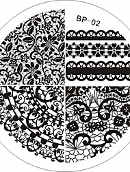 Born Pretty Chic Lace Pattern Nail Art Stamping Template Image Stamp Plate BP02