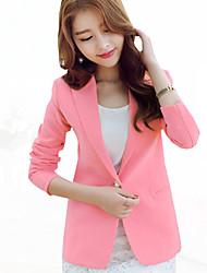 Women's Solid Fashion OL Style Slim Hin Thin  Blazer,Simple / Street chic Shirt Collar Long Sleeve