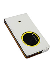 For Nokia Case Flip Case Full Body Case Solid Color Hard PU Leather Nokia Nokia Lumia 1020