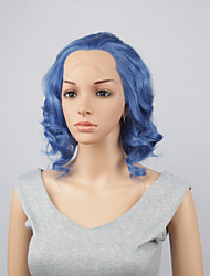 Fashion Synthetic Wigs Lace Front Wigs 10inch Bob Body Wave Blue Heat Resistant Hair Wigs Women