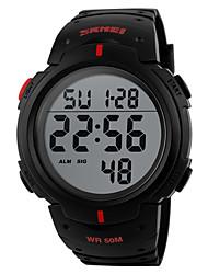 Men's  Sports Watch Noctilucent / Calendar / Chronograh / Water Resistant  / Digital Wrist Watch