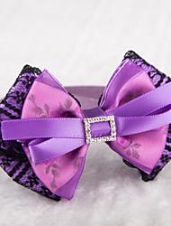 Gatos / Cães Colarinho Retratável / Bonitinho e fofinho Púrpura Téxtil