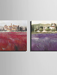 Mini Size E-HOME Oil painting Modern Rural Scenery Pure Hand Draw Frameless Decorative Painting