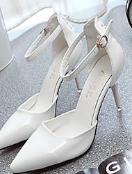 Chaussures Femme-Mariage / Bureau & Travail / Soirée & Evénement-Noir / Rose / Blanc-Talon Aiguille-Talons-Talons-Similicuir