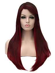 New Arrival Europe Black And Burgundy Heat Resistant Hair Synthetic Wigs