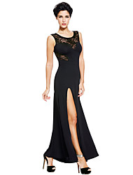 Women's Long Split Prom Party Maxi Evening Dress