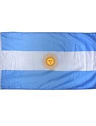 nouveau 3x5 pieds argentina drapeau grand polyester bannière nationale intérieure décor à la maison en plein air (sans mât)