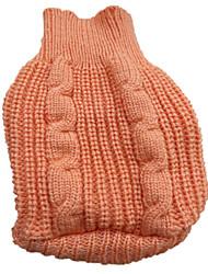 pejsky svetry Červená / Oranžová / Žlutá / Modrá / Hnědá / Růžová Oblečení pro psy Zima Jednobarevné