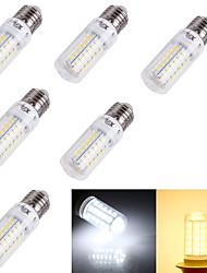 4W E14 / E26/E27 Ampoules Maïs LED T 56 SMD 5730 240 lm Blanc Chaud / Blanc Froid Décorative AC 100-240 / AC 110-130 V 6 pièces